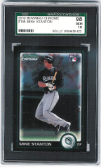 2010 Bowman Chrome Mike Stanton RC SGC 98