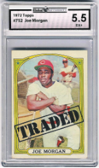1972 Topps #752: Joe Morgan GAI 5.5 (EX+)
