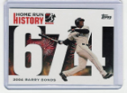 2006 Topps Barry Bonds Home Run History #674
