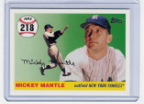 2007 Topps Mickey Mantle HR#218