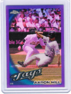2010 Topps Chrome Purple Refractor #151 Aaron Hill