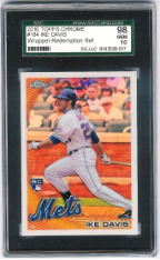 2010 Topps Chrome Ike Davis Wrapper Redemption Refractor SGC 98