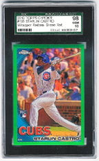 2010 Topps Chrome Starlin Castro Wrapper Redemption Green Refractor RC SGC 98 Gem Mint
