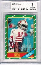 1986 Topps #161 Jerry Rice BVG 7 Near Mint