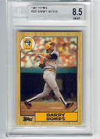 1987 Topps Barry Bonds RC BGS 8.5 Near Mint/Mint+