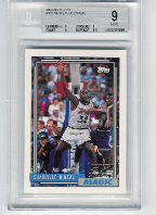 1992-93 Topps Shaquille O'Neal RC BGS 9 Mint