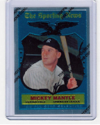 1997 Topps Finest Reprints #27 Mickey Mantle