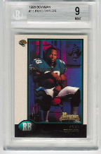 1998 Bowman Fred Taylor RC BGS 9 Mint