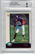 1998 Bowman Randy Moss RC BGS 9 Mint