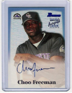 2000 Bowman Blue Autographs Choo Freeman