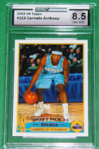 2003-04 Topps #223: Carmelo Anthony 8.5 (NM-MT+)