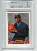2003-04 Topps Dwayne Wade RC BGS 9 Mint