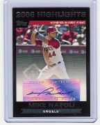 2007 Topps Highlights Autograph #MN Mike Napoli