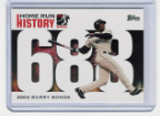 2006 Topps Barry Bonds Home Run History #688